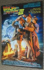 Michael J Fox Christopher Lloyd Signed Back To The Future Part 3 Poster Proof