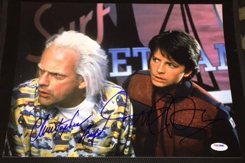 "Michael J Fox Christopher Lloyd Signed ""back To The Future"" Photo Psa/dna V13014"