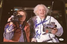 "Michael J Fox Christopher Lloyd Signed ""back To The Future"" Photo Psa/dna V14251"