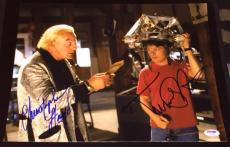"Michael J Fox Christopher Lloyd Signed ""back To The Future"" Photo Psa/dna V14252"