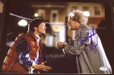 "Michael J Fox Christopher Lloyd Signed ""back To The Future"" Photo Psa/dna V14254"