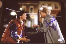 "Michael J Fox Christopher Lloyd Signed ""back To The Future"" Photo Psa/dna V14254"
