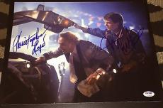 "Michael J Fox Christopher Lloyd Signed ""back To The Future"" Photo Psa/dna V14255"