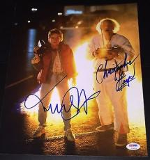 "Michael J Fox Christopher Lloyd Signed ""back To The Future"" Photo Psa/dna V14256"