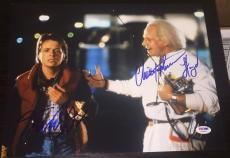 Michael J Fox Christopher Lloyd Signed Back To The Future Photo Psa/dna W08881