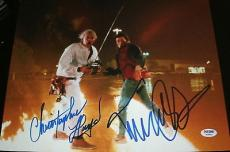 "Michael J Fox Christopher Lloyd Signed ""back To The Future"" Photo Psa/dna W08890"