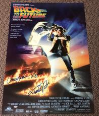 Michael J Fox Christopher Lloyd Signed Back To The Future Poster Proof Psa Loa