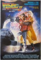 Michael J. Fox & Christopher Lloyd Signed BTTF 27x40 Movie Poster PSA/DNA#Z03910