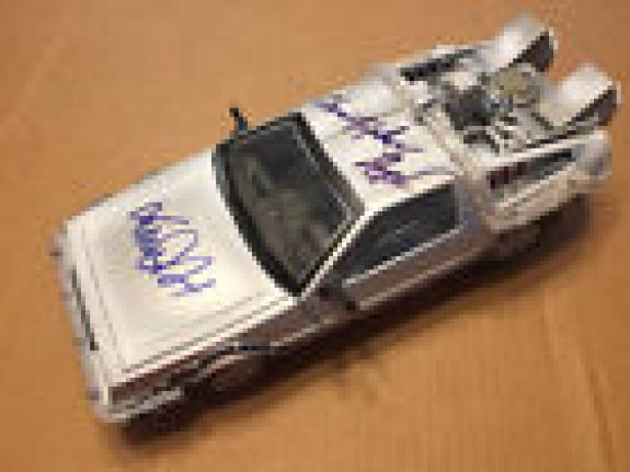 Michael J. Fox Christopher Lloyd Signed Delorean Car Back To The Future Psa/dna
