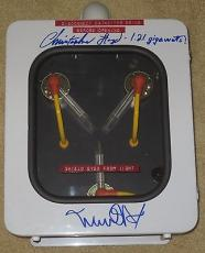 Michael J Fox Christopher Lloyd Signed Flux Capacitor Back To The Future Psa Coa