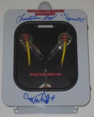 Michael J Fox Christopher Lloyd Signed Flux Capacitor Inscription Proof Psa Loa
