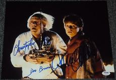 "Michael J Fox Christopher Lloyd Signed Photo ""back To The Future"" Psa/dna V04591"