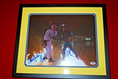 MICHAEL J FOX CHRISTOPHER LLOYD signed Framed PSA/DNA 11x14 back to the future 1