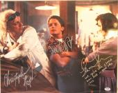 MICHAEL J FOX, CHRISTOPHER LLOYD & THOMPSON Signed 16x20 Photo PSA/DNA #AB08962
