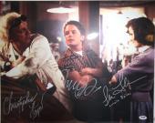 MICHAEL J FOX, CHRISTOPHER LLOYD & THOMPSON Signed 16x20 Photo PSA/DNA #AB08964