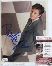 Michael J. Fox Color Signed Autographed Photo Jsa Coa