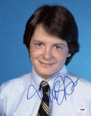 Michael J Fox Family Ties Signed 11X14 Photo PSA/DNA #S33576
