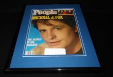 Michael J Fox Framed 11x14 ORIGINAL 1987 People Magazine Cover Family Ties