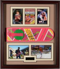 "Michael J. Fox Framed Autographed 40"" x 35"" x 4"" Back to The Future Collage - PSA/DNA"