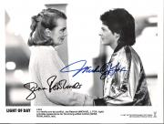 "MICHAEL J FOX & GENA ROWLANDS ""LIGHT OF DAY"" Signed by Both 10x8 B/W Photo"