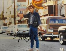 Michael J Fox Hand Signed Autograph 11x14 Photograph Back To The Future GA716967