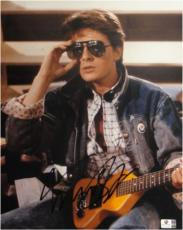 Michael J Fox Hand Signed Autograph 11x14 Photograph Back To The Future GA716968