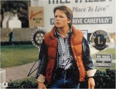 Michael J Fox Hand Signed Autograph 11x14 Photograph Back To The Future GA716972