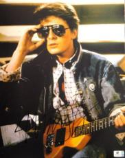 Michael J Fox Hand Signed Autographed 11x14 Photo Back to The Future GA756077