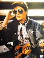 Michael J Fox Hand Signed Autographed 11x14 Photo Back to The Future GA756078