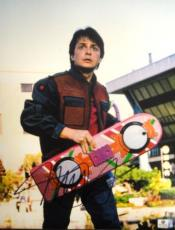 Michael J Fox Hand Signed Autographed 11x14 Photo Back to The Future GA756080