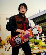Michael J Fox Hand Signed Autographed 11x14 Photo Back to The Future GA756082