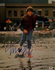 Michael J Fox Hand Signed Autographed 11x14 Photo Back to The Future GV 718396