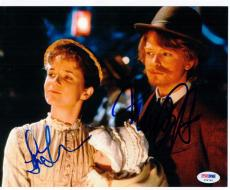 Michael J Fox Lea Thompson 2x signed 8x10 photo PSA/DNA Back to the Future