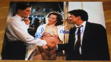 MICHAEL J FOX LEA THOMPSON SIGNED 11x14 PHOTO BACK TO THE FUTURE AUTO COA A