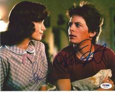 MICHAEL J. FOX & LEA THOMPSON signed BACK TO THE FUTURE 8x10 PHOTO PSA/DNA COA