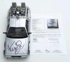 Michael J. Fox Marty Mcfly Signed Back To The Future Ii Delorean 1/15 Jsa Loa