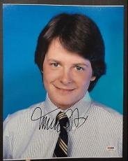 Michael J Fox Movie Legend Psa/dna Signed Autograph 11x14 Photo Authentic L@@k