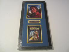 Michael J Fox Rare Signed Autographed Framed Back To The Future 8x10 Photo Jsa