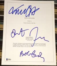"""Michael J Fox Robert Zemeckis Gale Signed """"back To The Future"""" Movie Script Bas"""