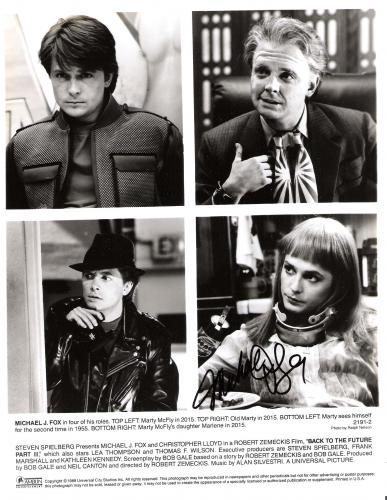 "MICHAEL J. FOX - Roles in ""BACK TO THE FUTURE"" Signed 8x10 B/W Photo"