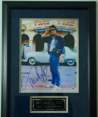 Michael J Fox Signed 11x14 Back To The Future Framed And Matted Psa/dna Rare