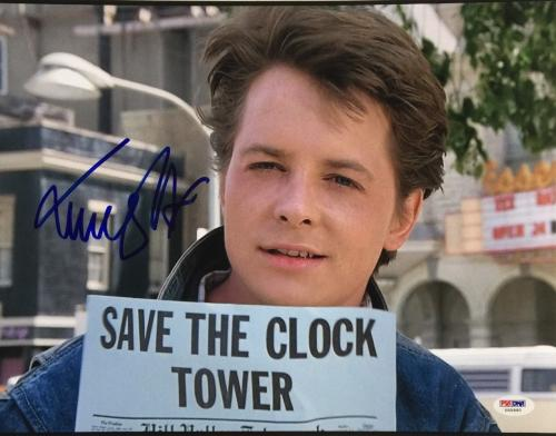 Michael J. Fox Signed 11x14 Back To The Future Photo PSA U45990