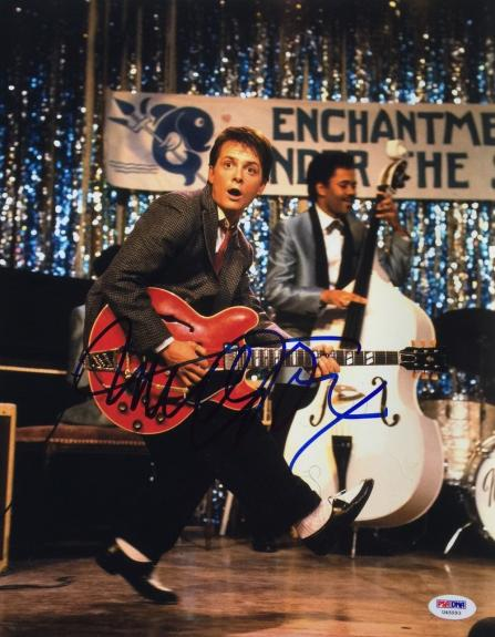 Michael J. Fox Signed 11x14 Back To The Future Photo PSA U45993