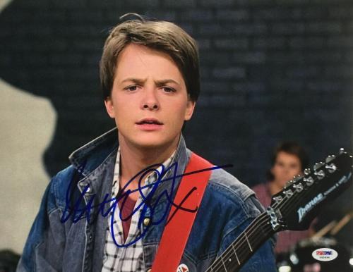 Michael J. Fox Signed 11x14 Back To The Future Photo PSA U45994