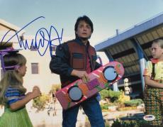 Michael J. Fox Signed 11x14 Back To The Future Photo PSA Hologram U73127