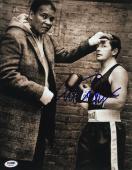 Michael J. Fox Signed 11x14 Muhammad Ali Photo PSA Hologram U45998