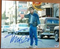 Michael J. Fox signed 11x14 photo PSA/DNA autographed Back to the Future