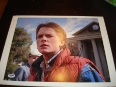 Michael J Fox Signed 11x14 Photo PSA/DNA Back To The Future Autographed 1A