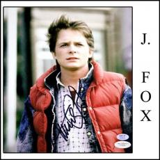 Michael J Fox Signed 8x10 - 8 x 10 Photo - Back to the Future - JSA