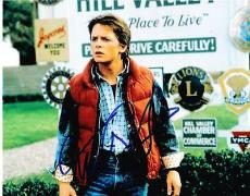 Michael J Fox Signed 8x10 Photo Back To The Future Marty Mcfly Auto Proof Coa F